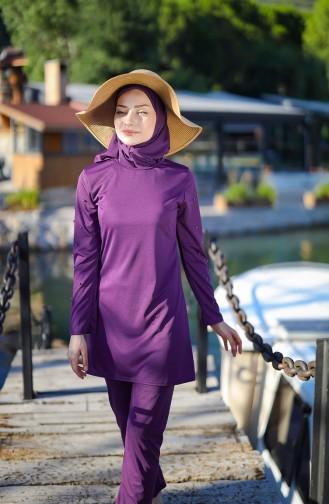Purple Swimsuit Hijab 1012-02