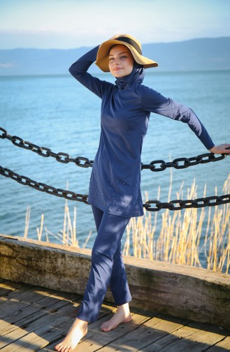 Navy Blue Swimsuit Hijab 1013-03