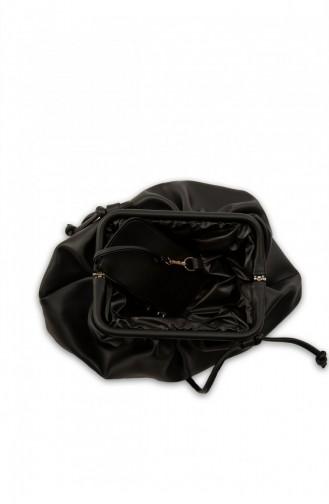 Bagmori Burslu Büyük Bohça Çanta M000004073 Siyah