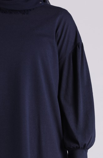 Navy Blue Blouse 4003-01