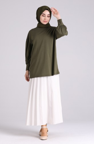 Khaki Bluse 4003-04