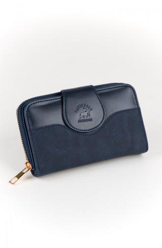 محفظة نقود أزرق كحلي 52-02
