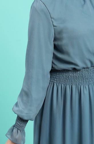 Petroleum-Blau Hijap Kleider 8154-07
