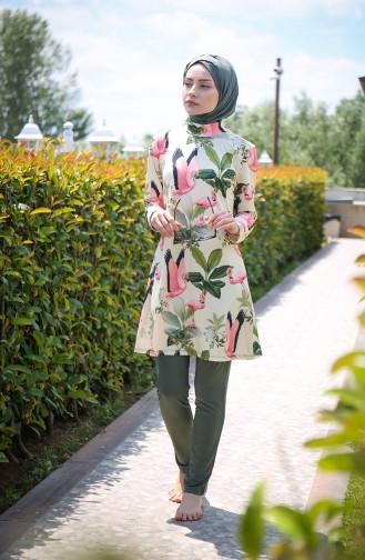 Khaki Swimsuit Hijab 1966-01