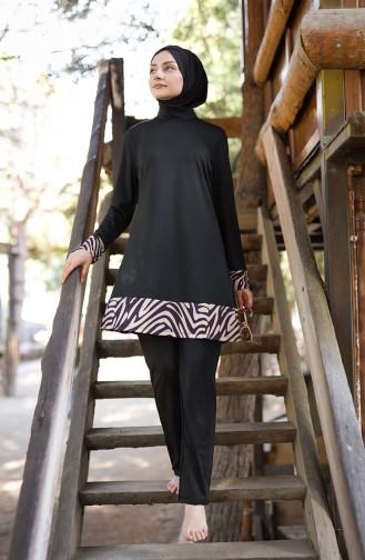 Maillot de Bain Hijab 1978-01 Noir 1978-01
