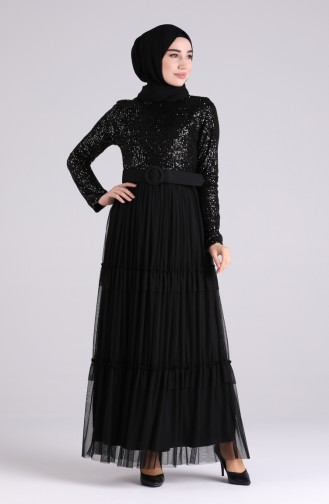 Habillé Hijab Noir 5701A-01