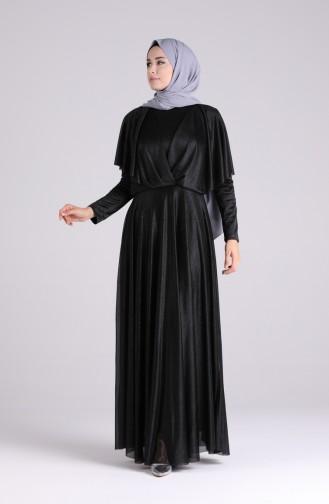 Habillé Hijab Noir 60173-02