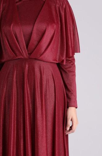 Habillé Hijab Bordeaux 60173-03