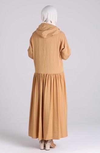 فستان عسلي 20019-03