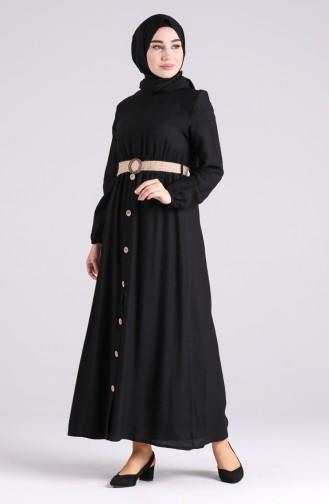 Schwarz Hijap Kleider 0029-05