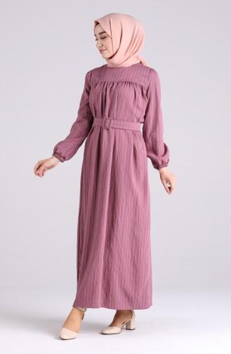 Robe Hijab Rose Pâle 0051-04