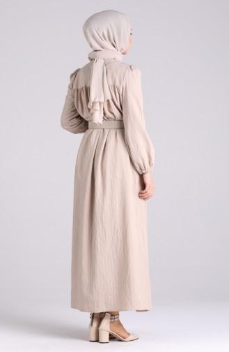 Robe Hijab Beige 0051-08