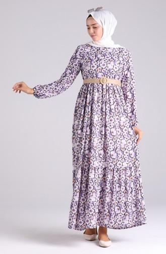 Lilac İslamitische Jurk 0377-02