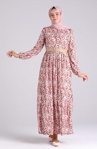 Beige-Rose Hijap Kleider 0377-03