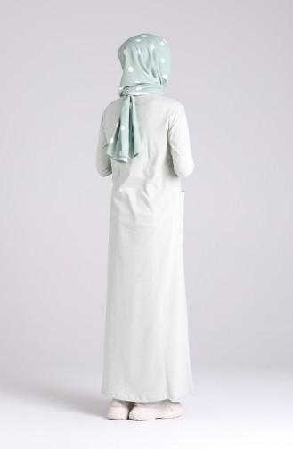 Wassergrün Hijap Kleider 0321-06
