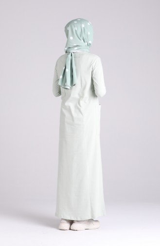 Robe Hijab Vert eau 0321-06