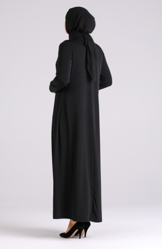 Schwarz Hijap Kleider 4576-01