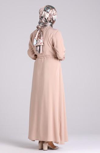 Beige Hijap Kleider 4055-04