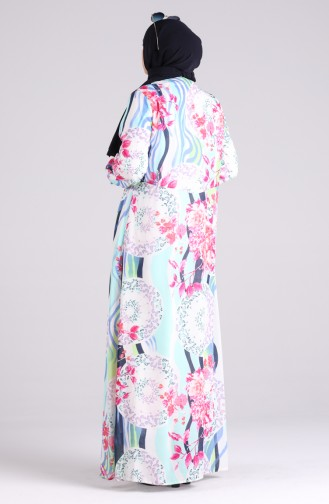 Minzengrün Hijap Kleider 3070-01