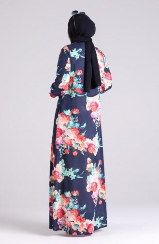 Robe Hijab Bleu Marine 3070-02