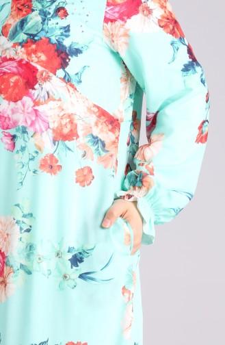 Grün Hijap Kleider 3070-03