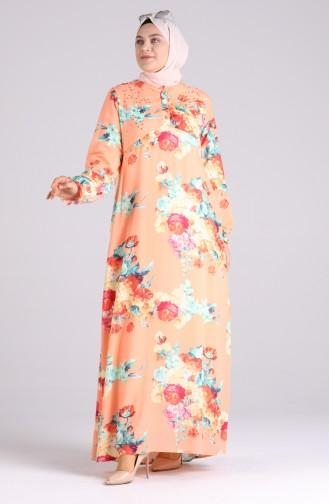 Robe Hijab Saumon 3070-04
