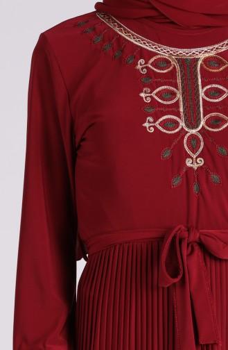Robe Hijab Bordeaux 5757-02