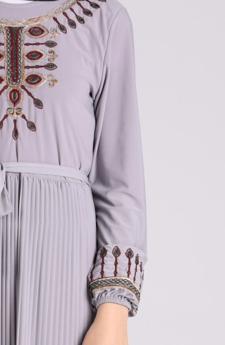 Robe Hijab Gris 5757-04