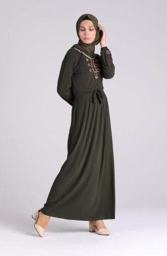 Khaki Hijap Kleider 5757-07