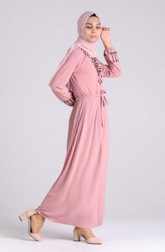 Lachsrosa Hijap Kleider 5757-09