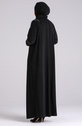 Schwarz Hijap Kleider 1638-01