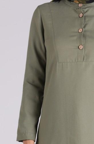 Button Detailed Tunic Powder 1272-13