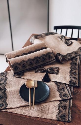 Textile de Maison Noir 3139