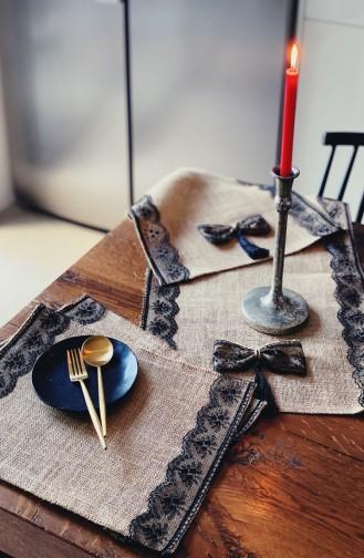 Textile de Maison Noir 3140