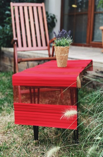 Pileli Modern Lazer Kesim RunnerR1006 Kırmızı