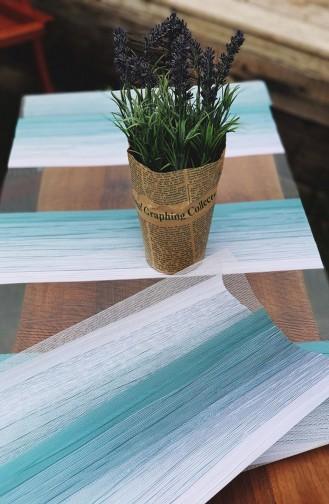 Textile de Maison Bleu 1009