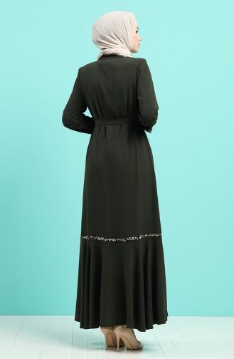 Khaki Abayas 8096-03
