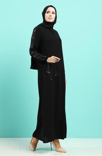 Abayas Noir 8097-01