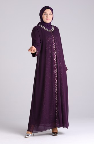Habillé Hijab Plum 4262-02