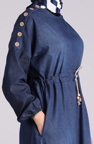 Habillé Hijab Bleu Marine 7084-01