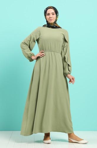 Aerobin Fabric Elastic Dress 20021-03 Khaki 20021-03