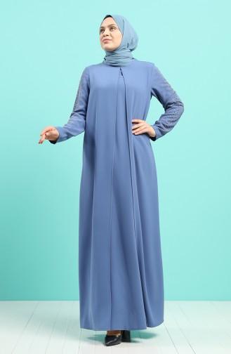Habillé Hijab Indigo 1014-05