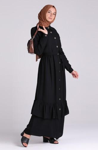 Robe Hijab Noir 0033-02