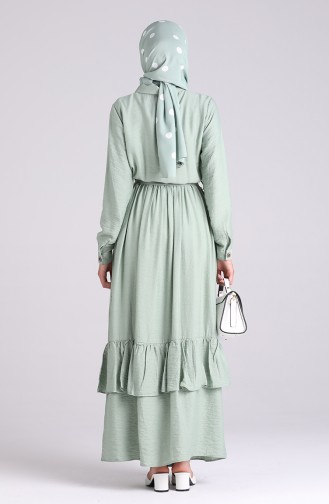 Robe Hijab Vert noisette 0033-04