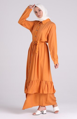 فستان برتقالي 0033-06