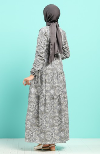Grau Hijap Kleider 4640-02