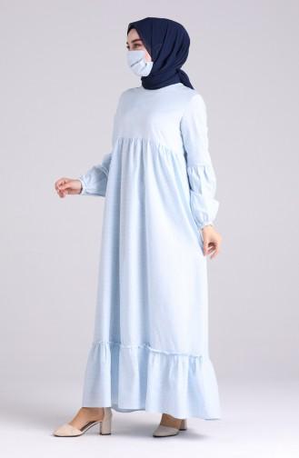 Robe Hijab Bleu Bébé 1401-01
