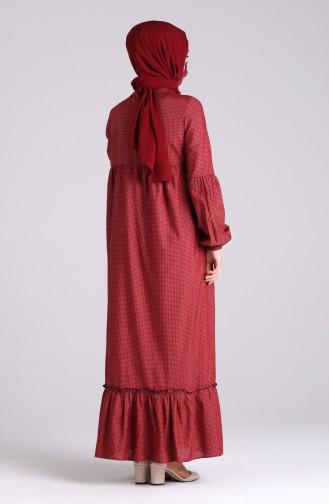 Claret red Dress 1401-02