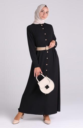 Robe Hijab Noir 1322-01