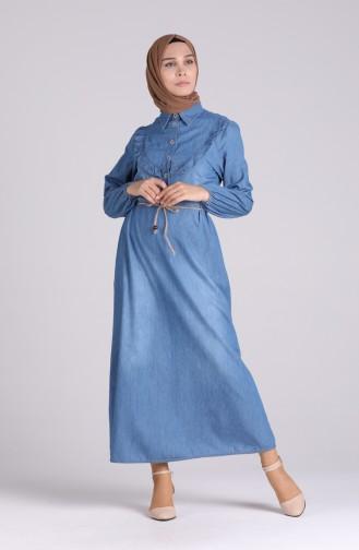 Robe Hijab Bleu Jean 0103-02